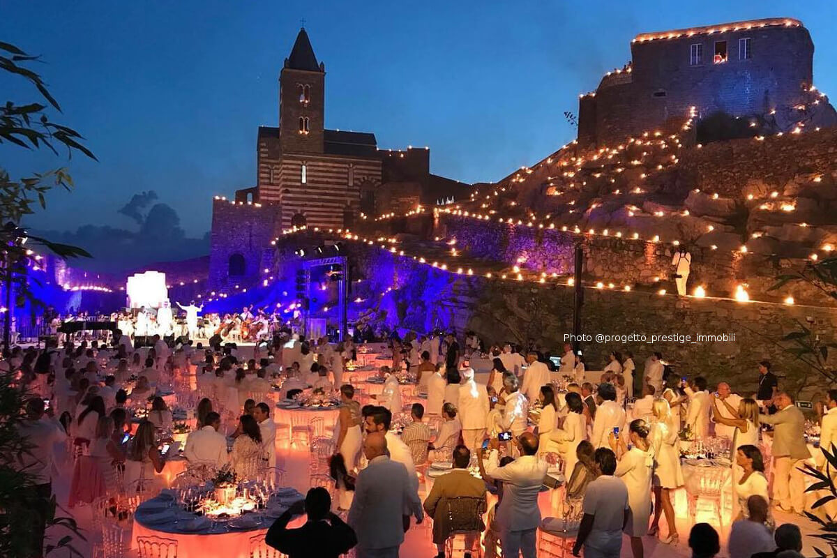 Andrea Bocelli in Portovenere with Celebrity Fight Night Italy